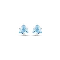 Srebrne kolczyki naturalny topaz niebieski 5 mm 1,02 ct