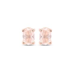 Srebrne kolczyki pozłacane 18 ct różowym złotem z 2 naturalnymi morganitami 0,43 ct