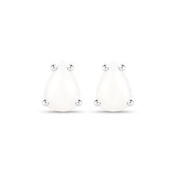 Srebrne kolczyki z naturalnym opalem gruszka 7x5 mm 0,70 ct