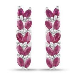Srebrne kolczyki z naturalnymi rubinami 1,45 ct