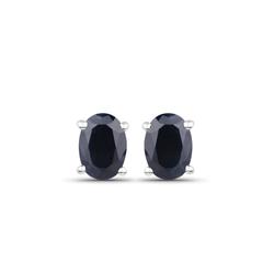Srebrne kolczyki z naturalnymi szafirami niebieskimi 1,30 ct