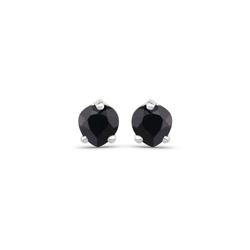 Srebrne kolczyki z naturalnymi szafirami o kształcie serca 4 mm 0,70 ct