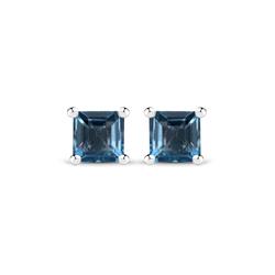 Srebrne kolczyki z naturalnymi topazami niebieskimi London Blue 0,84 ct