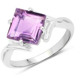 Srebrny pierścionek z bardzo dużym naturalnym ametystem 2,79 ct