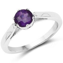 Srebrny pierścionek z naturalnym ametystem 0,65 ct