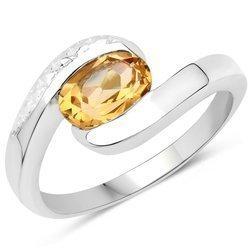 Srebrny pierścionek z naturalnym cytrynem 1.20 ct
