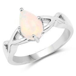 Srebrny pierścionek z naturalnym etiopskim opalem 0,98 ct