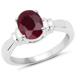 Srebrny pierścionek z naturalnym rubinem 2,42 ct