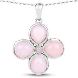 Srebrny wisiorek z naturalnymi różowymi opalami 7,63 ct