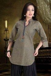 Tunika koszula 100% bawełny w kolorze szarym