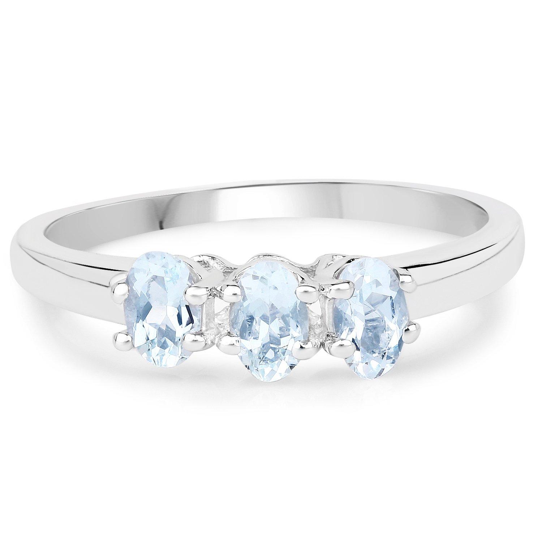 Sprawdź naszą kolekcję srebrych pierścionków z akwamarynem