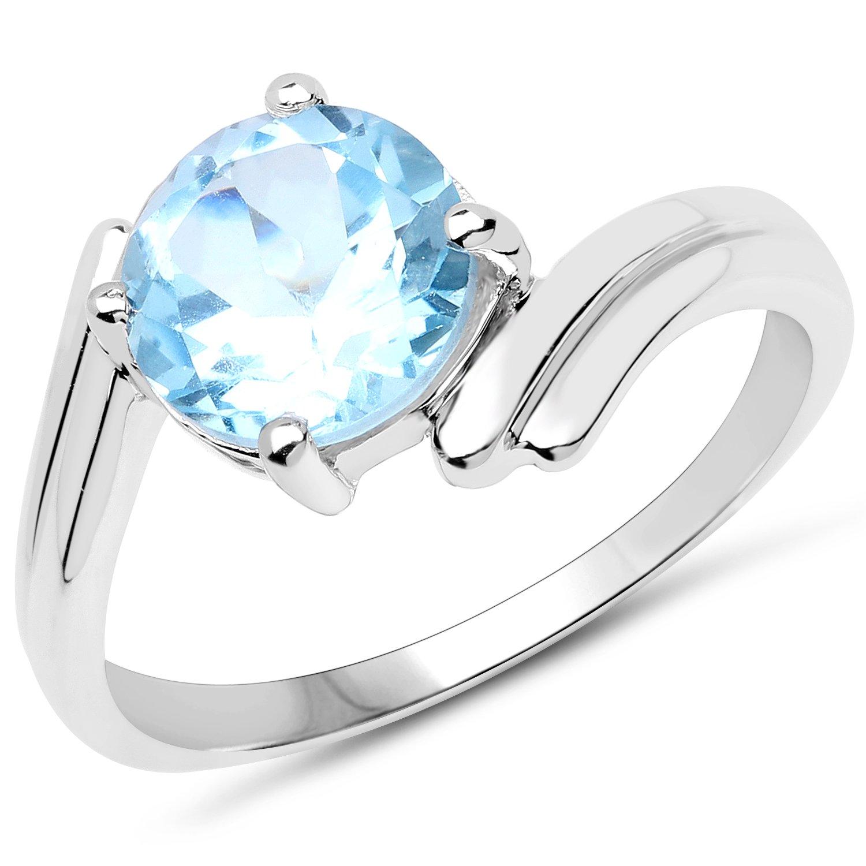83b26636af9866 Srebrny pierścionek z bardzo dużym naturalnym topazem niebieskim 3 ...