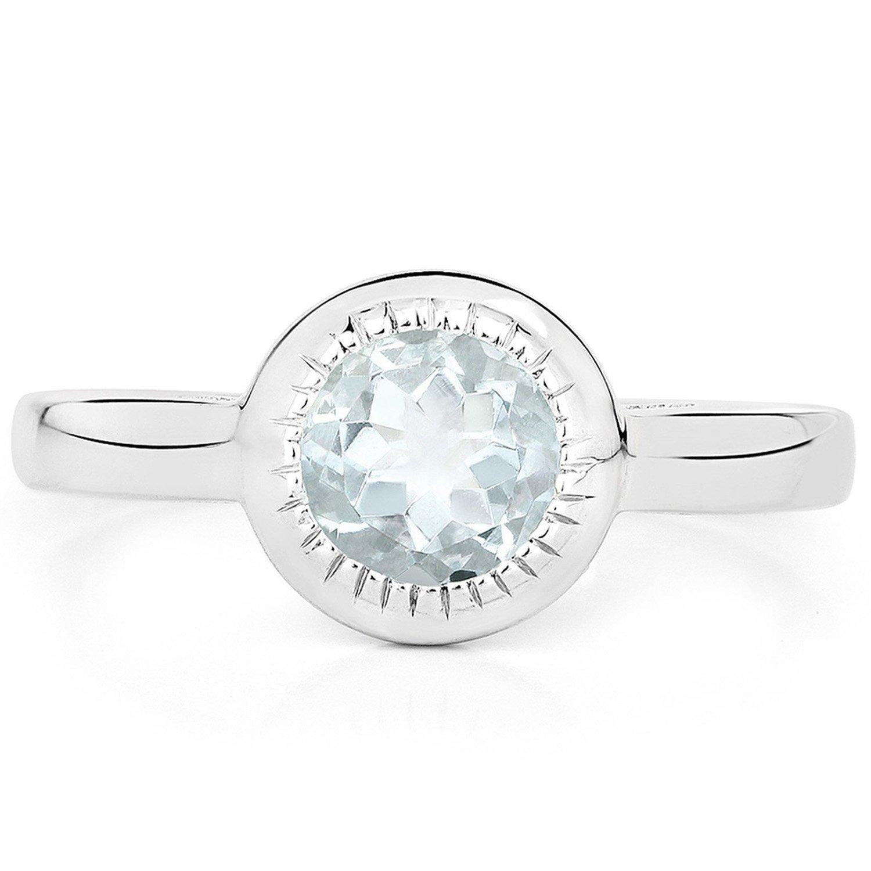 a2cc99e9 Srebrny pierścionek z akwamarynem 0,25 ct